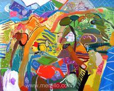 "LA CIUDAD ETERNA. Jose Manuel Merello.- ""Colinas de Roma"" (130x162 cm) Técnica mixta sobre lienzo. ARTE CONTEMPORANEO. http://www.merello.com"