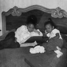 Janet Jackson and her niece  Stacee Brown in the 70's.