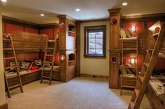 traditional boys bunkroom design by gabriel builders http://hative.com/30-cool-boys-bedroom-ideas-of-design-pictures/