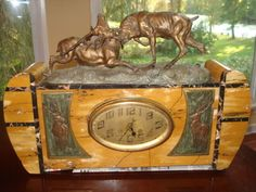Art Deco/Nouveau marble clock with Signed Thomas Francois Cartier Buck Sculpture 1910 -17 | Collectors Weekly