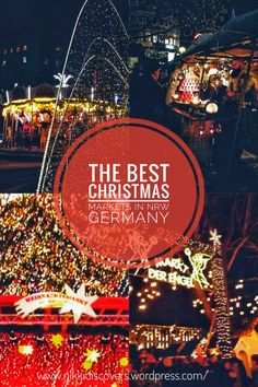 The best Christmas markets in North Rhine Westphalia, Germany Best Christmas Markets, North Rhine Westphalia, Travel Around Europe, Budget Travel, Cologne, The Best, My Photos, Germany, Posts