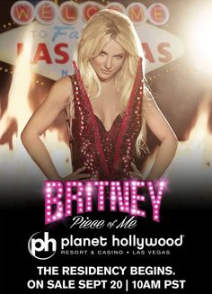 Tickets go on sale Sept 20, 2013 for #BritneySpears Las Vegas Residency at #PlanetHollywood