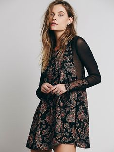 Free People Folk Song Mini Dress at Free People Clothing Boutique