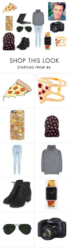 """""""Caspar Lee"""" by baryzz-and-the-tomb-raider ❤ liked on Polyvore featuring Tattly, Glenda López, Casetify, New Look, Yves Saint Laurent, Topshop, Ray-Ban and Speck"""