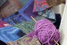 Mitred Squares Blanket – Part 1 with a pattern.