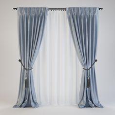 curtains 15. The dimension w. 2450. 2700h. Mesh- quadrangular polygons The original file V-Ray 3ds Max 2014 + V-Ray 3.40.01