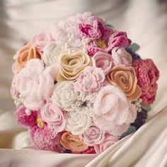 Items similar to Custom handmade crochet bouquet of forever flowers to match your colourscheme and theme on Etsy Bouquet Crochet, Crochet Puff Flower, Knitted Flowers, Crochet Flower Patterns, Love Crochet, Crochet Gifts, Crochet For Kids, Crochet Yarn, Crochet Wedding