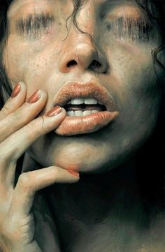 Illustration/Painting/Drawing inspiration by Sam Spratt Lips Painting, Painting & Drawing, Painting Portraits, Drawing Eyes, Rpg Horror, Editorial Illustration, L'art Du Portrait, Arte Obscura, Belle Photo