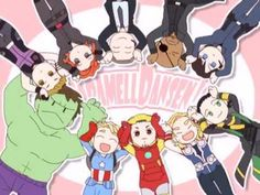 The overwhelming cuteness of Avengers-Caramelldansen.