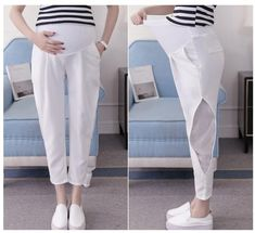 PLAMTEE Maternity Pants For Pregnant Women Maternity Clothes Summer Overalls Loose Pregnancy Pant Plus Size Lady Clothing Stylish Maternity, Maternity Pants, Stylish Pregnancy, Pregnancy Pants, Clothes For Pregnant Women, Clothes For Women, Gauze Clothing, Plus Size Tips, Cycling Outfit