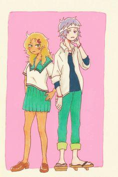 Toritsuka Reita and Aiura Mikoto Wonder Over Yonder, Otaku, Coffee Jelly, Fanart, Kaichou Wa Maid Sama, Black Wings, Ship Art, Anime Ships, Manga