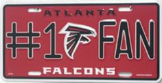 We like this Atlanta Falcons #1 Fan License Plate, are you attending any games this year?   www.edvoyleshonda.com