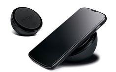 Google #Nexus4 wireless charging orb using #Qi technology