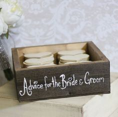 Advice for the bride and groom. Great idea