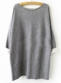 Least they could do is resurrect this 80's style if they're going to insist acid wash is ok again (barf) Grey Batwing Sweatshirt