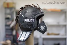 Police helmet - post apoc gear