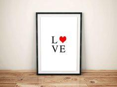 Love Heart Print Love Print Home Print DIGITAL PRINT
