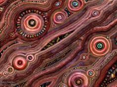 Textile and Gem abstract