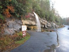 Take a Scenic Drive on Moonshiner 28 near the Great Smoky Mountains! Bridal Veil Falls on Moonshiner 28 NC Smoky Mountains Hiking Places, Camping Places, Vacation Places, Vacation Spots, Places To Travel, Places To See, Vacation Ideas, Travel Destinations, Hiking Trails