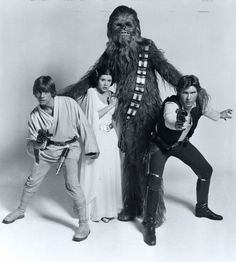 Star Wars cast promo photo: Mark Hamill, Peter Mayhew, Carrie Fisher, Harrison Ford