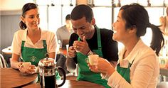 The origin of this picture is from Starbucks Pinterest page. It is their way of showing that they are hiring. I chose this because Starbucks is well known for being accepting of a very diverse workforce. This represents visual affirmation because it shows that there are multiple different cultures that work at Starbucks. It might appeal to the population of minority cultures because it shows that Starbucks is accepting of those cultures and that they are a diverse workforce.