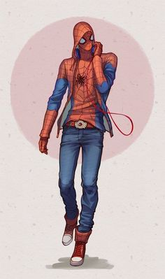 Spider-Man (Peter Parker) is a fictional character, a superhero in the Marvel Comics universe. Created by writer-editor Stan Lee and writer-artist Steve Ditko, he first appeared in Amazing Fantasy #15 in 1962.