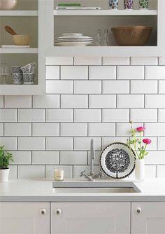 Lieblich Metro Tile Splashback Bevelled White Metro Tiles, Kitchen Backsplash,  Kitchen Subway Tiles, White