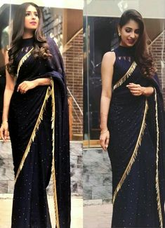 Designer net work party wear sarees shopping online in uae Sari Design, Sari Blouse Designs, Saree Blouse Patterns, Black Saree Designs, Trendy Sarees, Stylish Sarees, Fancy Sarees, Party Wear Sarees, Saree Designs Party Wear