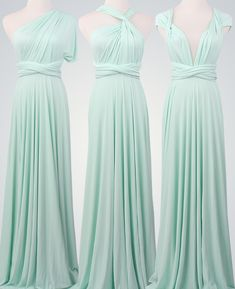 Mint Bridesmaid DressLong Infinity DressWrap by VicenteDresses