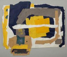 Yellows, Blue, White Horizontal on White Ground (H10), c.1982-84