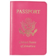 WILL NEED THIS B4 WE GO TO GERMANY Pink Passport Cover $20.00