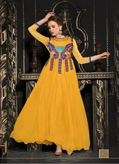 Colour Yellow Fabric Net Occasion Reception, Party, Ceremonial Type Gown
