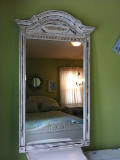 Large Beautiful Shabby Chic Solid Wood Mirror by antique2chic, $275.00
