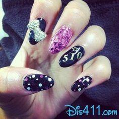 Zendayas nails - tips by esNAIL Really Cute Nails, Super Cute Nails, Fabulous Nails, Gorgeous Nails, Amazing Nails, Zendaya Nails, Pointy Nails, 3d Nails, Celebrity Nails
