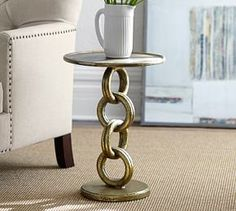 Chain Link Side Table #Pottery Barn