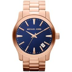 Michael Kors - Obsessed with Rose Gold right now. And my fav color BLUE. Need thisssss....