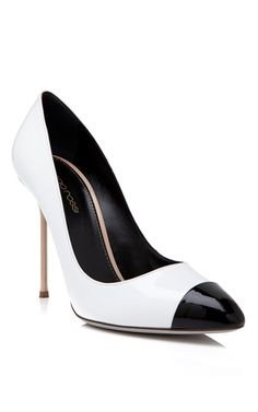 Sergio Rossi black toe pump #shopitrightnow