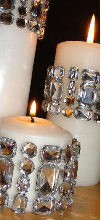 Bougies avec des strass, toutes dimensions, toutes couleurs pinned with Pinvolve