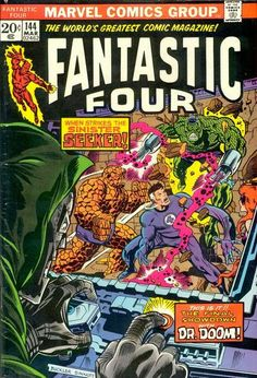 Fantastic Four #144. Dr Doom and The Seeker.