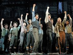 The cast of Broadway's NEWSIES