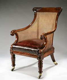 George IV Library Bergere Chair. 19289/0308