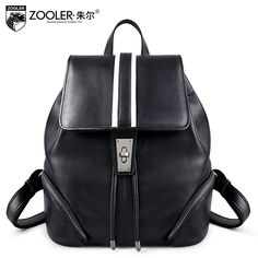 94.08$  Watch now - http://alijer.worldwells.pw/go.php?t=32772235709 - Women Genuine Leather bag ladies backpack 2016 Autumn winter European American style  Backpack leather backpack leisure# YL-3696 94.08$
