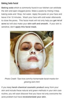 Baking soda facial who knows if it works!!!