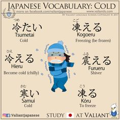 Kanji 土、転 and talking about cold in Japanese More flashcards on www.instagram.com/valiantjapanese