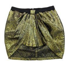 Une jupe lamée