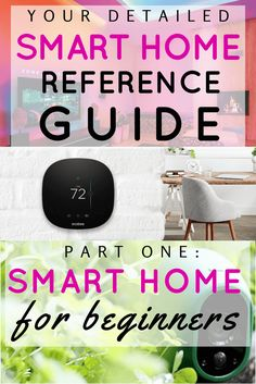 Smart home tech can save you time, money, and headaches. But getting started is way too confusing. This smart home reference guide is great for getting started, especially part one: smart home for beginners. Home Automation System, Smart Home Automation, Do It Yourself Home, Save Yourself, Smart Home Security, Smart Home Technology, Google Nexus, Home Gadgets, Smart Technologies