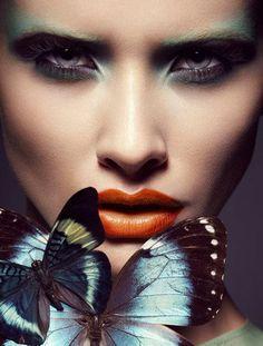 """INSPIRATION: """"BUTTERFLY KISSES"""" MUA: Lloyd Simmonds PHOTO: Julia Saller"""