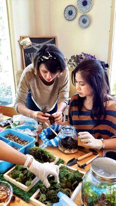 Workshop Midnight Garden Terrarium Line for order : poommy19