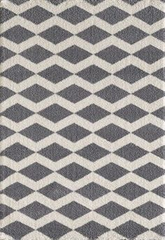 Dynamic Rugs Silky Shag 5904-900 6'7' x 9'6' (Grey, White), As Shown