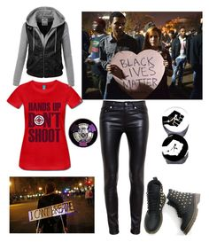 Protests by the-dreaming-star on Polyvore featuring Yves Saint Laurent, GAS Jeans, POLICE, women's clothing, women's fashion, women, female, woman, misses and juniors